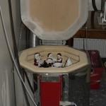 Brændeovnen i porcelænsmaling